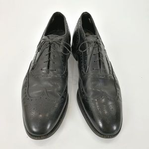 Johnston Murphy Aristocraft 12D Black Wingtips
